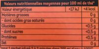Lipton Thé Mure Myrtille 20 Sachets - Nutrition facts - fr