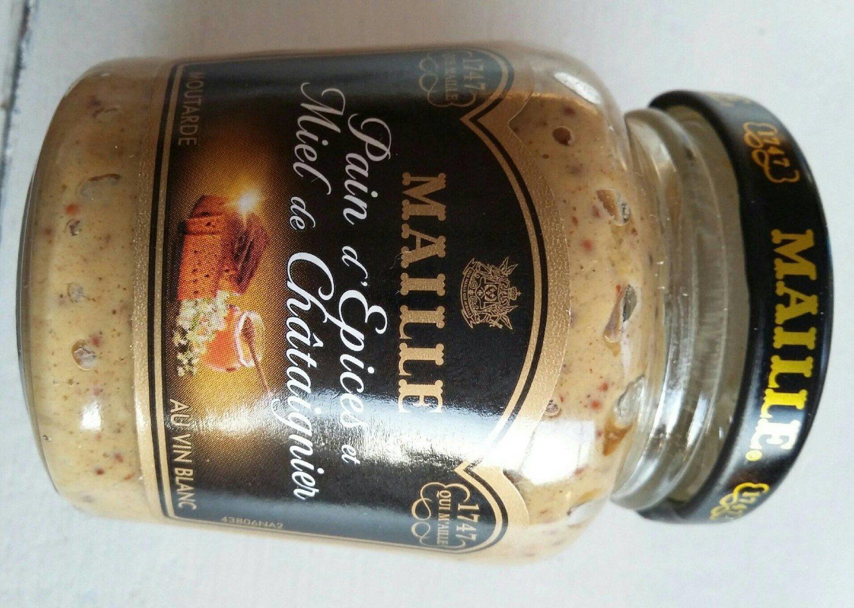 Moutarde vin blanc Pain épices miel chataigner - Product - fr