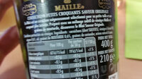 Maille L'Original Cornichons Mini Croquants Bocal 210g - Ingredients - fr