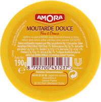 Amora Moutarde Douce Verre TV 190g - Nutrition facts - fr