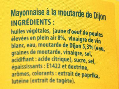 Mayonnaise de Dijon - Ingrédients