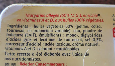 Planta fin doux tartine & cuisson - Ingrediënten