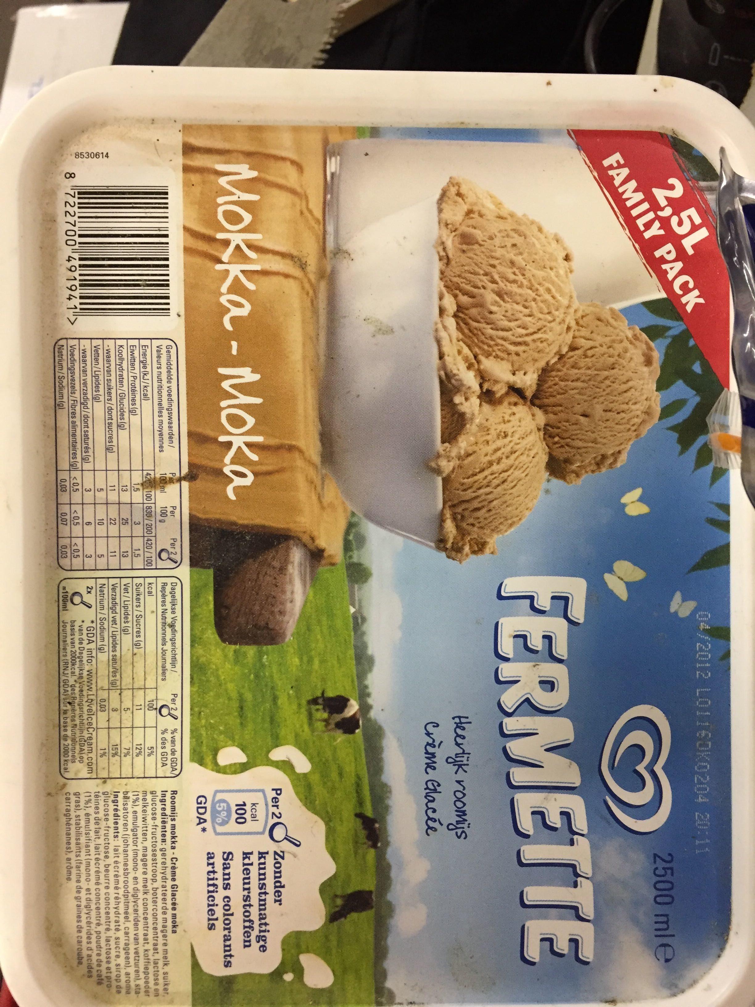 Crème glacee moka - Produit - fr