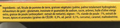 Knorr Bouillon Cube Poule 24 Cubes - Ingrédients - fr