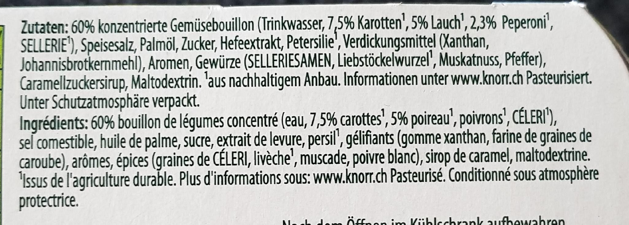 Bouillon Töpfli - Marmite de Bouillon - Ingrédients - fr