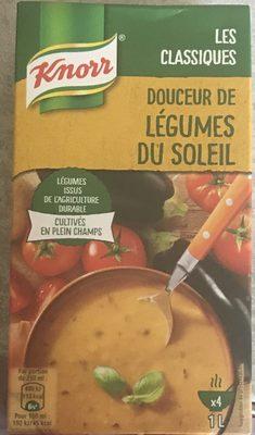 Knorr Les Classiques Soupe Liquide Douceur de Légumes du Soleil Brique 4 Portions - Ingredients - fr