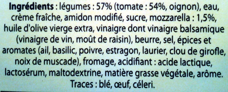 Knorr soupe douceur italienne - Ingredients - fr
