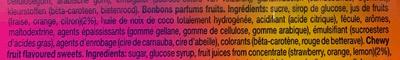 Mentos fruits - Ingrédients - fr