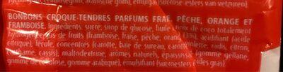 Fruit-tella Dummy - Ingrediënten