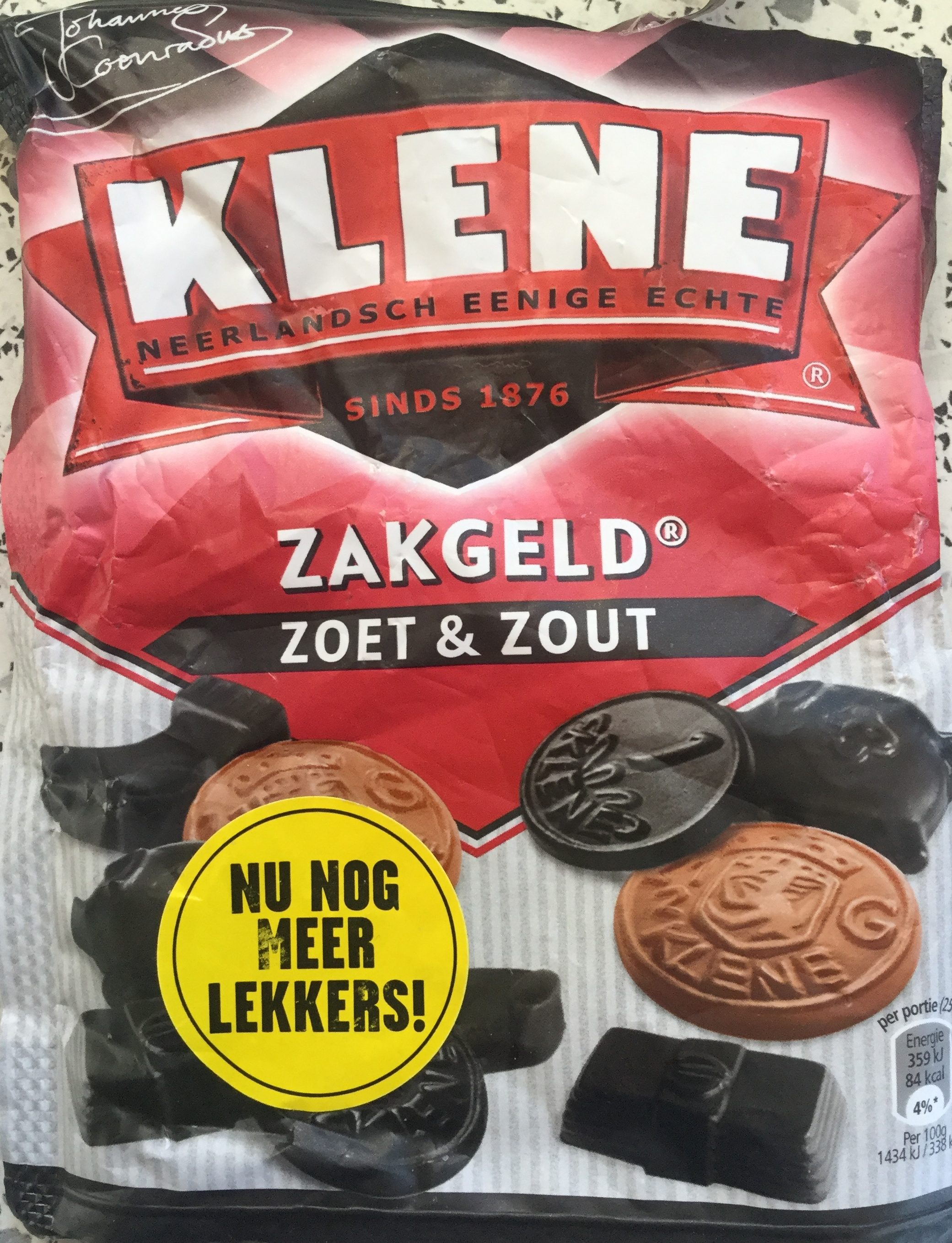 Zakgeld zoet & zout - Product - nl