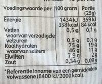 Zakgeld zoet & zout - Voedingswaarden - nl