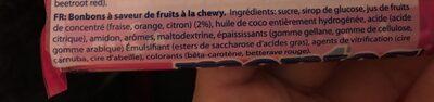 Mentos Fruit - Ingredientes