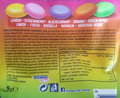 Mentos fruit mix bolsa 160g - Produit - es