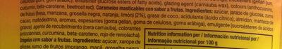 Mentos fruit mix bolsa 160g - Ingrédients - es