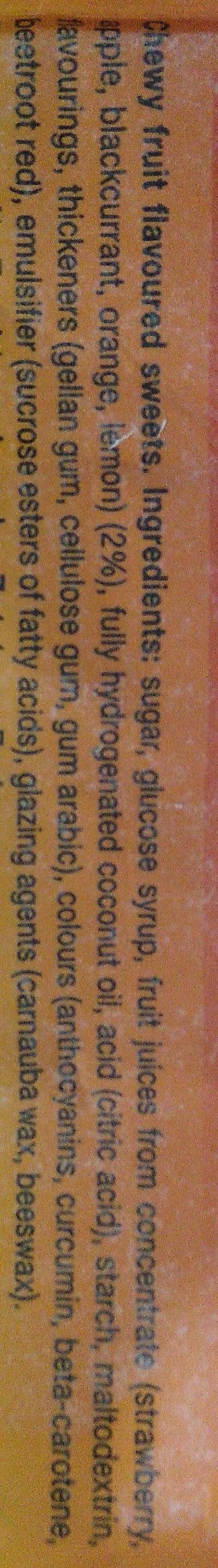 Mentos fruit mix - Ingredients - en