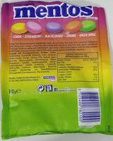 Mentos fruit mix - Voedingswaarden