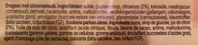 Mentos chewy dragees lemonade - Ingredients