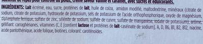 Gerlinea saveur vanille caramel - Ingrediënten