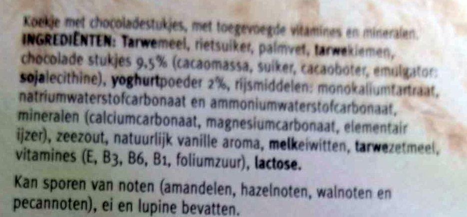 Biscuits lait chocolats - Ingrediënten - nl