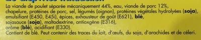 20 fricadelles surgelées - Ingrédients