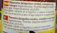 Old El Paso Jalapenos - Ingredientes