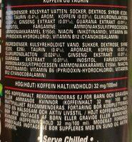 SuperSours Energy Drink - Ingrediënten - fr