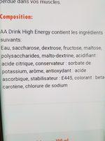 Aa Drink High Energy - Ingredients - fr