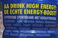Aa Drink High Energy - Ingrediënten