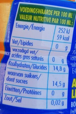 Aa Drink High Energy - Nutrition facts - fr