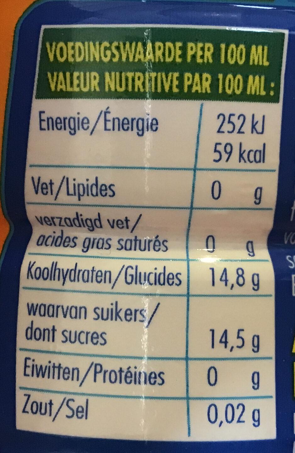 Aa Drink High Energy - Voedingswaarden - nl