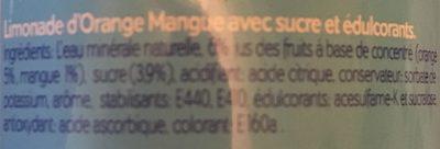 Raak Orange Mango Pet - Ingrediënten - fr