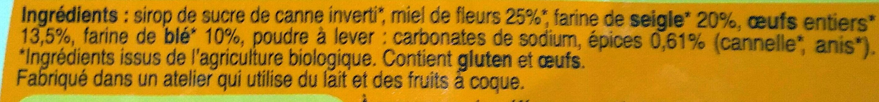 Pain d'épices tranché - Ingredients