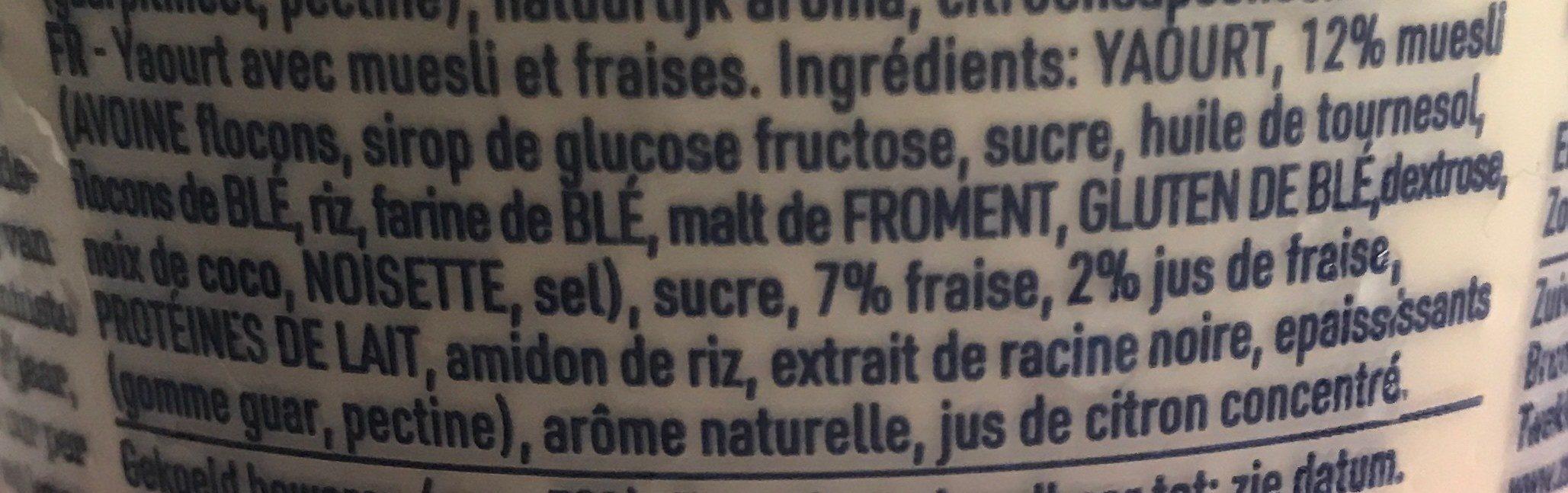 Muesli Fresa Yogurt - Ingredients - fr