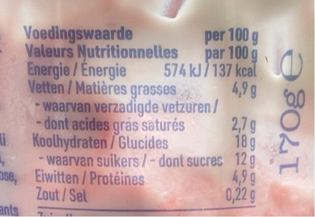 Muesli Fresa Yogurt - Nutrition facts - fr