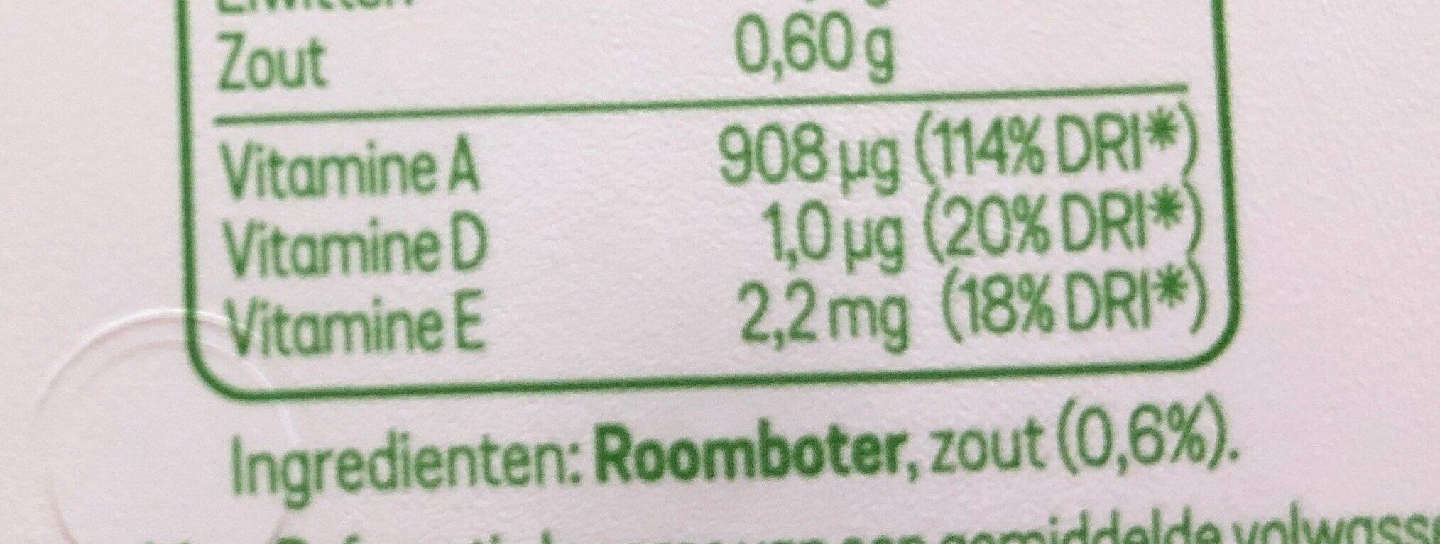 Campina Botergoud Grasboter Gezouten - Ingrediënten - en