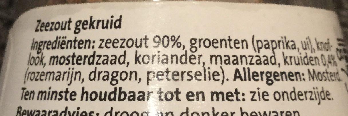 Zeezout gekruid maler - Ingrediënten