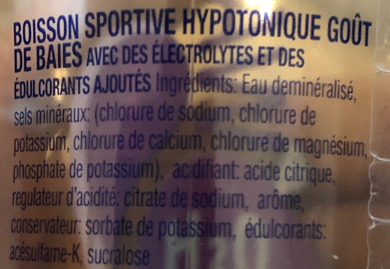 Sportwater Berries - Ingrediënten - fr