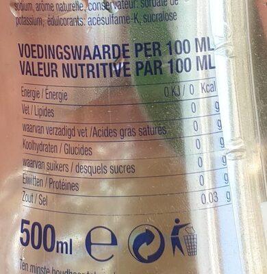 Sport water - Voedingswaarden