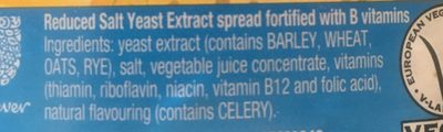 MARMITE reduced salt - Ingredients