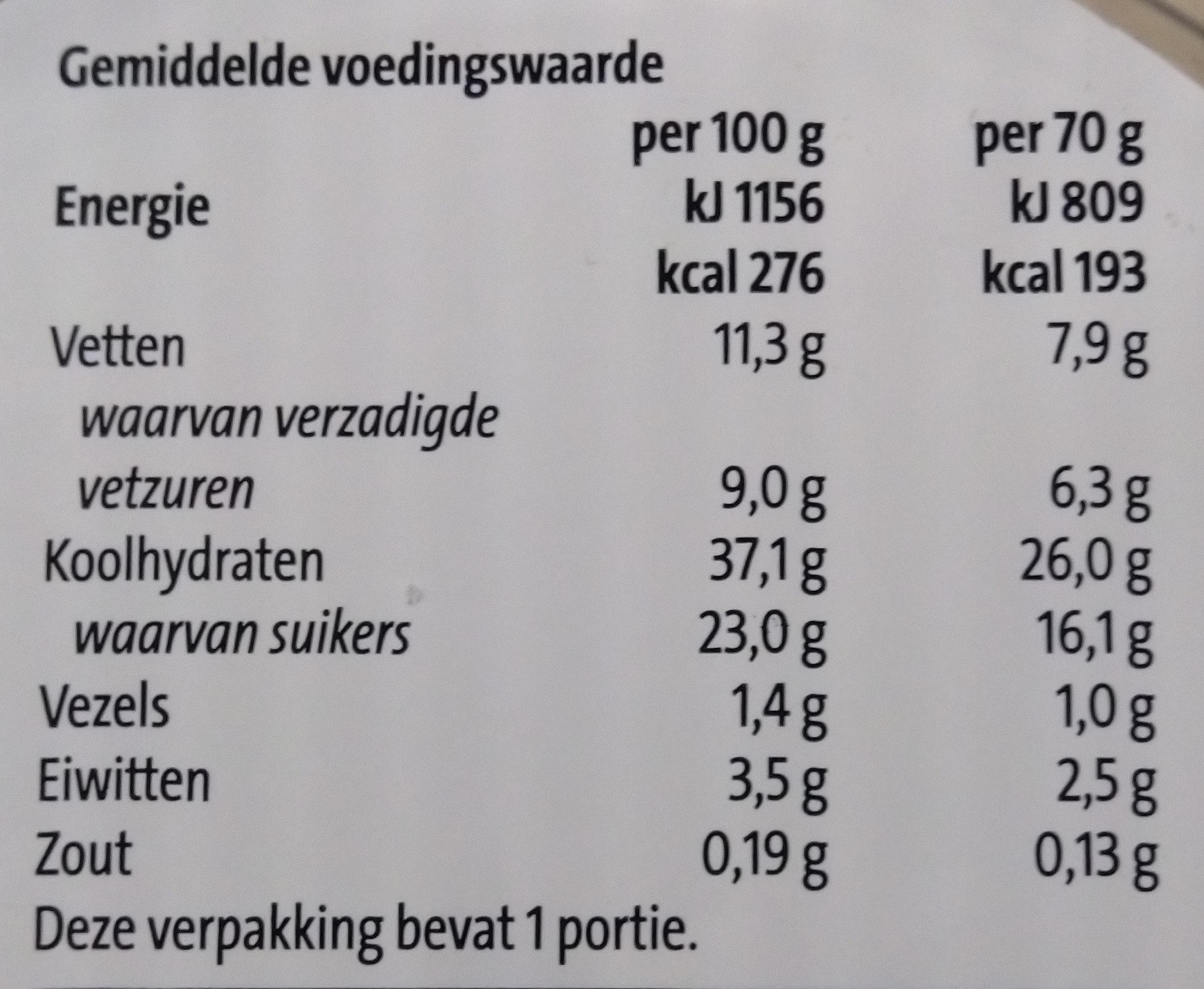 Triple choco mousse - Voedingswaarden - nl