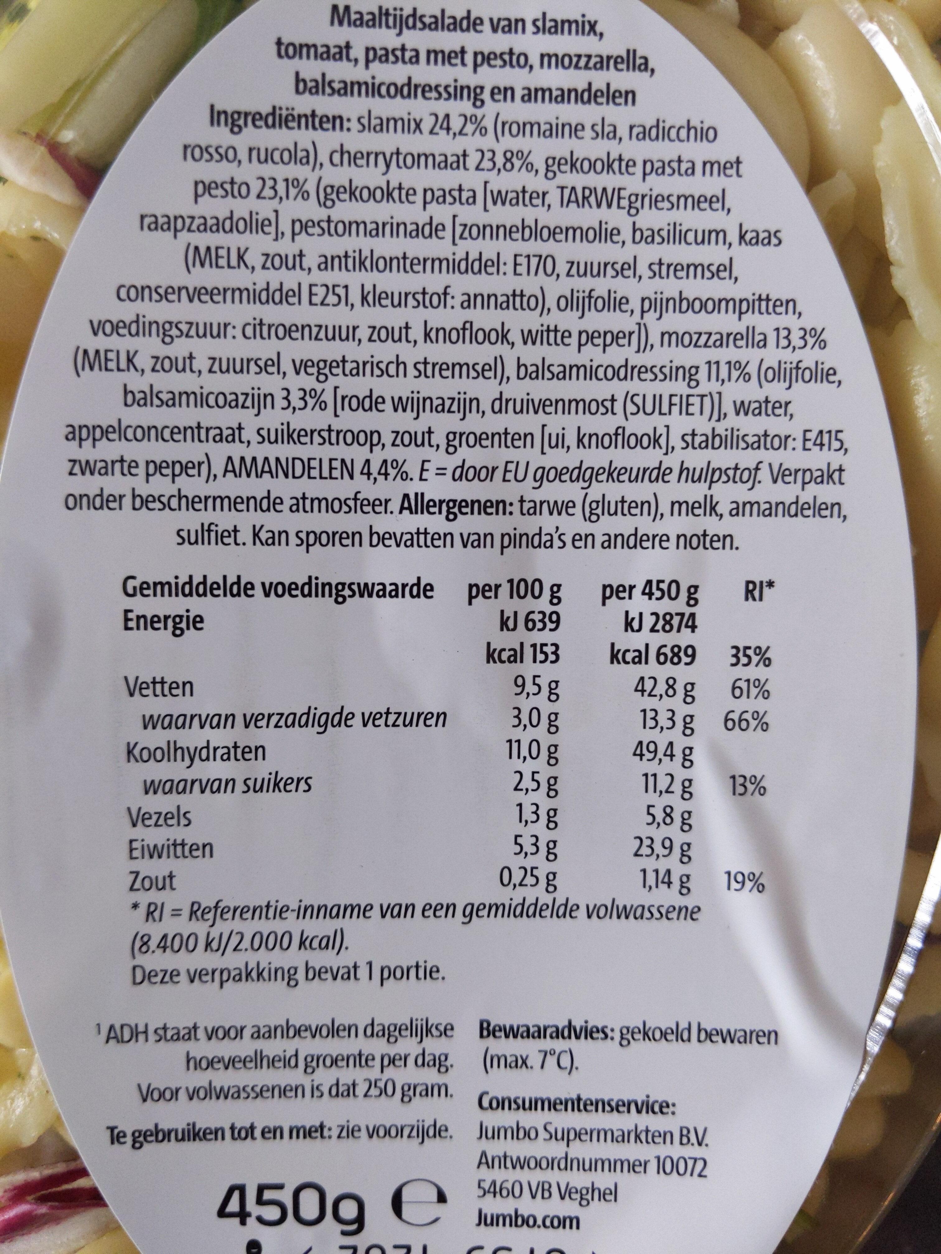 Maaltijdsalade Mozzarella - Ingredients - nl