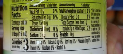 apple vinegar - Giá trị dinh dưỡng - en