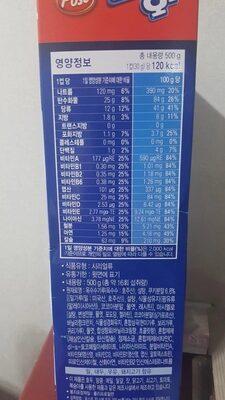 오레오 오즈 - Nutrition facts - ko
