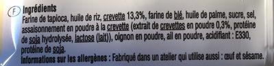 Chips de crevettes - Ingrédients - fr