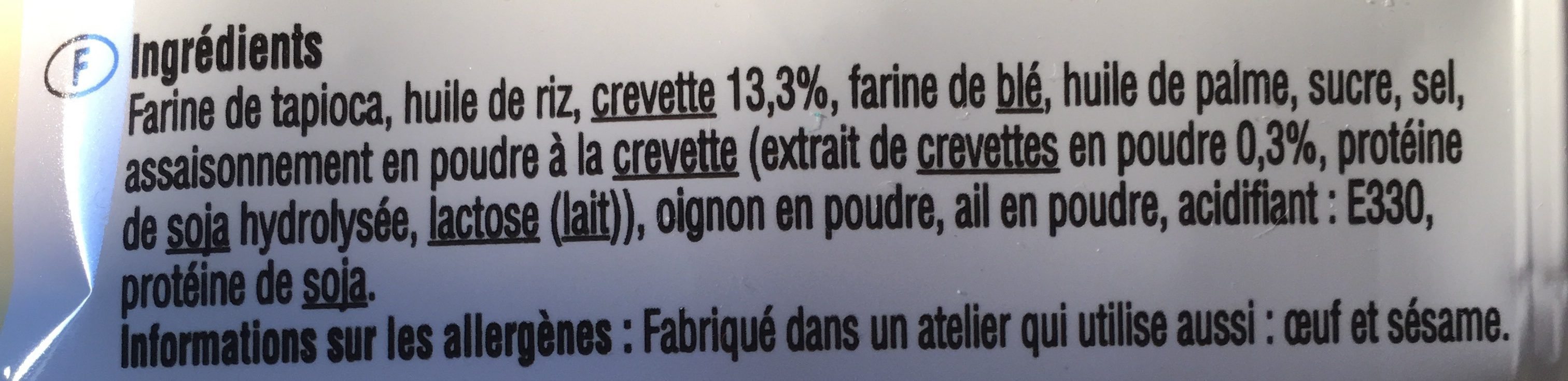 Chips de crevettes - Ingredients - fr