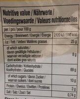 Chips de crevettes - Nutrition facts - fr