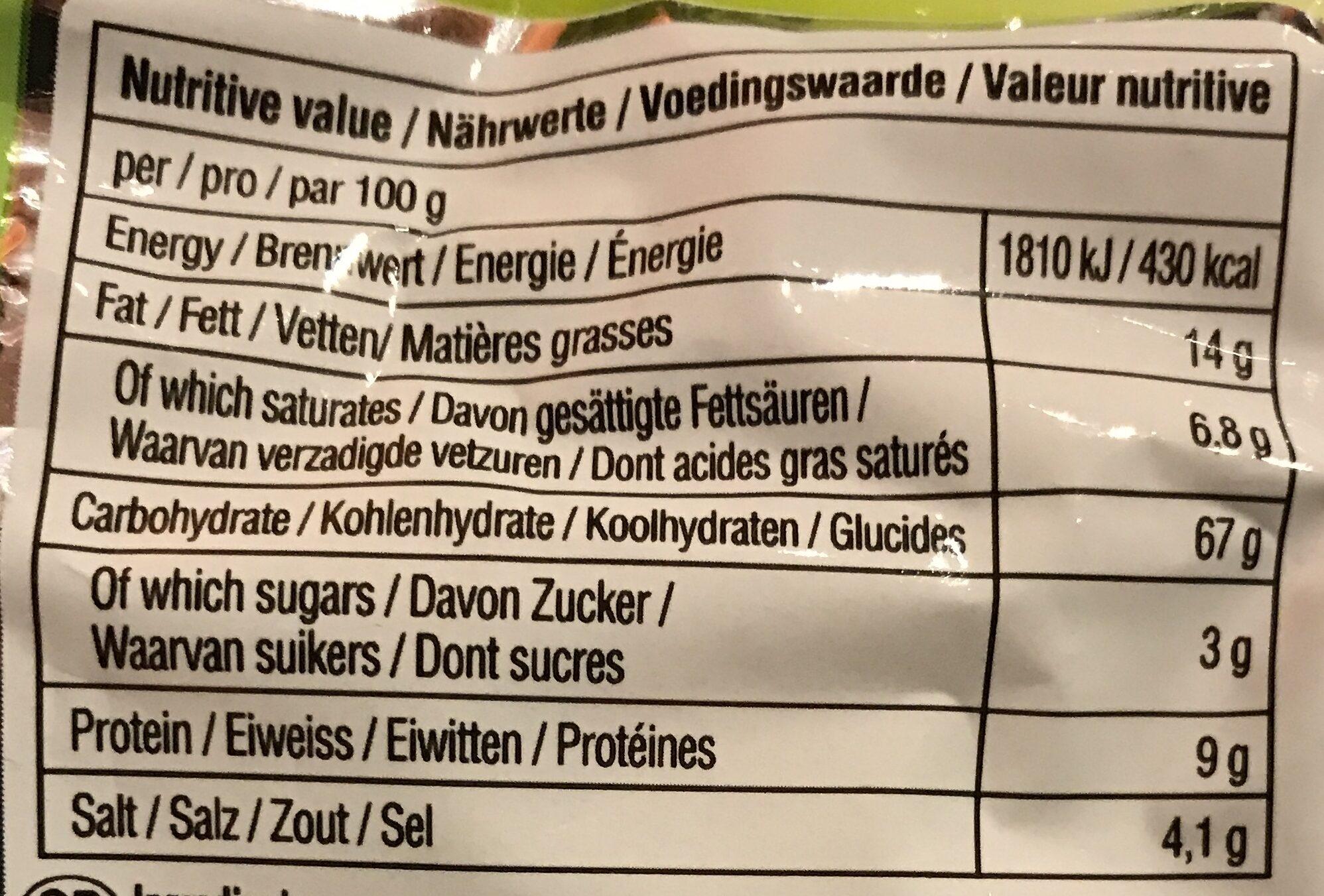 SOON VEGGIE RAMYUN NOODLE SOUP - Nutrition facts - en