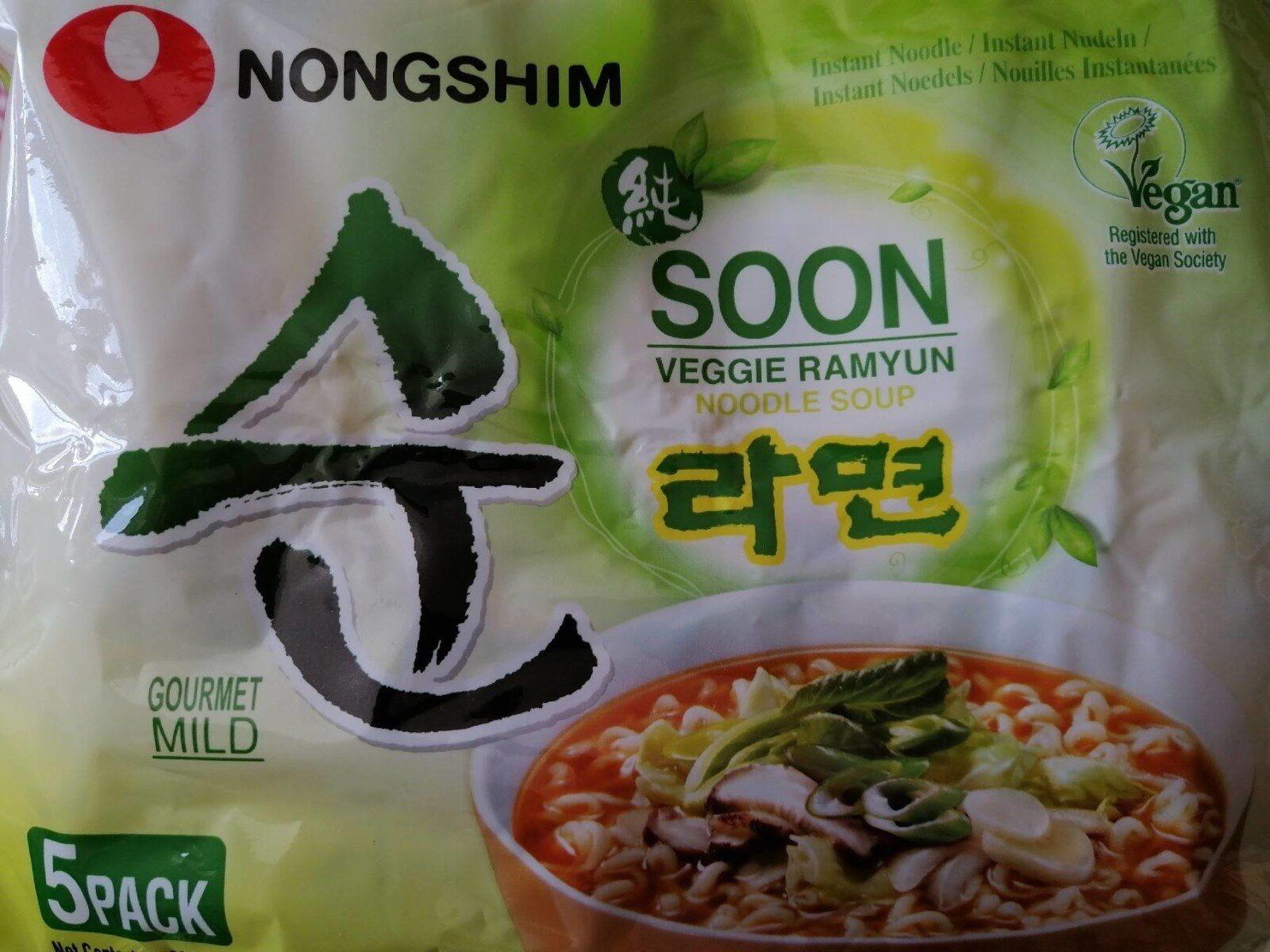 Veggie Ramyun Noodle Soup - Produit - de