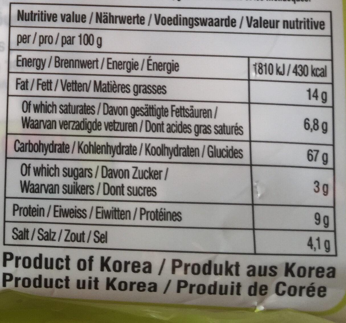 Soon Veggie Ramyun 5-Pack - Voedingswaarden - de