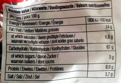 Instant Shin Ramyun Noodle Soup - Voedingswaarden - en